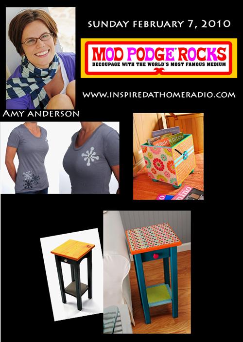 Amy Anderson - Mod Podge Rocks