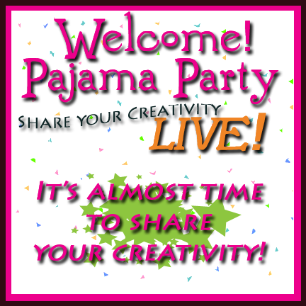 Welcome to the Pajama Party It's almost time LOGO
