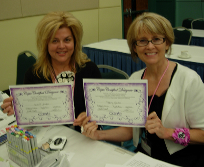 Julianna Hudgins and Tiffany Windsor at Copic Certification Class